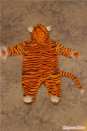 Новогодний костюм тигренок своими руками