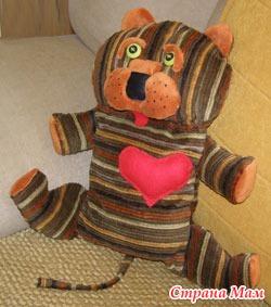 Мягкая игрушка тигр своими руками фото 550