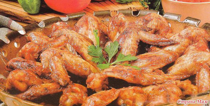 Сочные куриные крылья в меду - Город томск ру