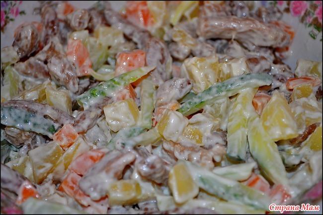Салаты со свиным языком и свежим огурцом рецепты