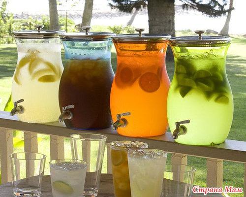 Мятный лимонад с фруктами. - Любимые коктейли и напитки - Страна Мам