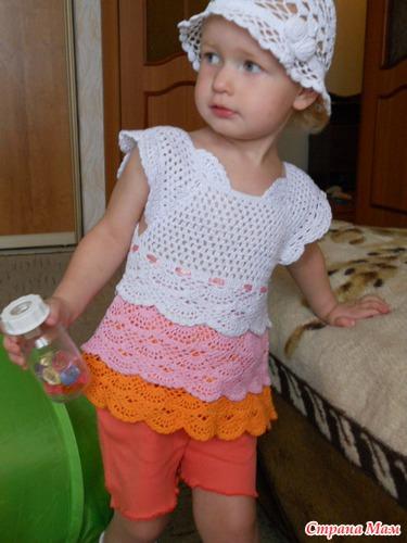 Летнее платье крючком дневник группы вязание для детей страна мам
