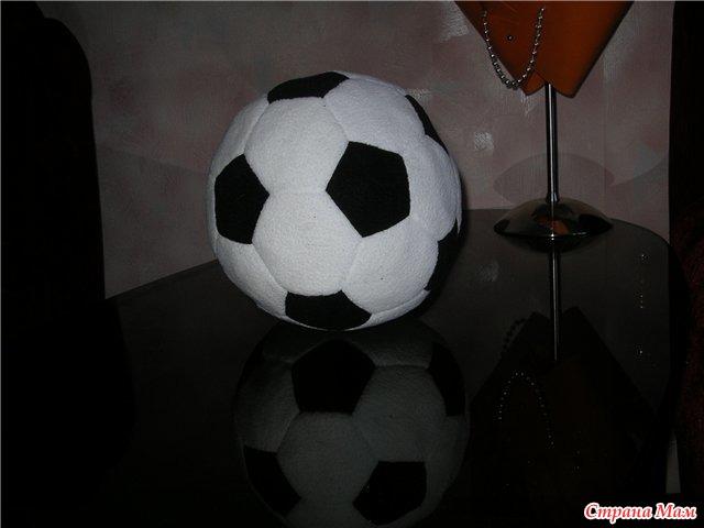 Футбольная подушка своими руками