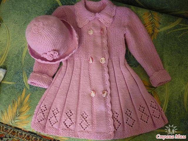Пальто для девочки вязание для детей