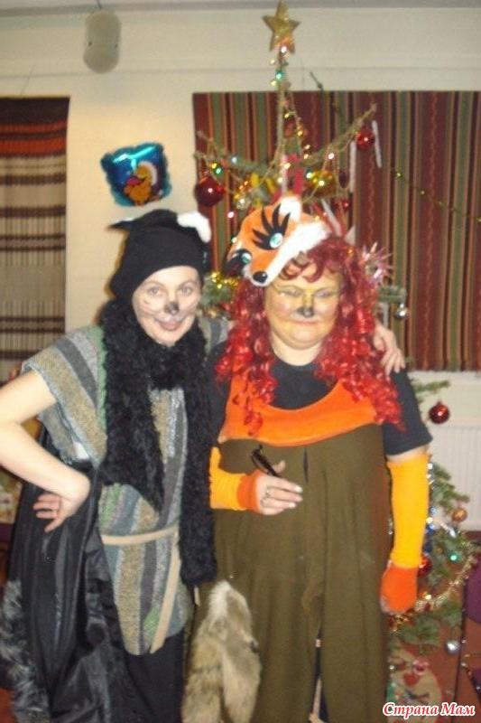 кот Базилио и лиса Алиса: фотография в альбоме Новогодние ...: http://www.stranamam.ru/photo/788934/