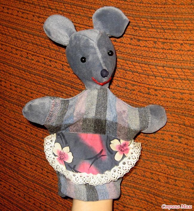 Выкройка мышки для кукольного