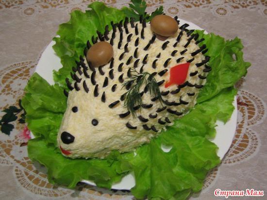 Рецепт салатов ежик с