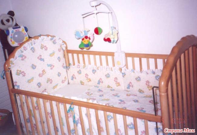Бордюры для детской кроватки своими руками