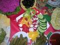 овощи на столе как украсить фото