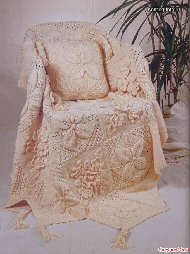 Вязание пледа на кресло