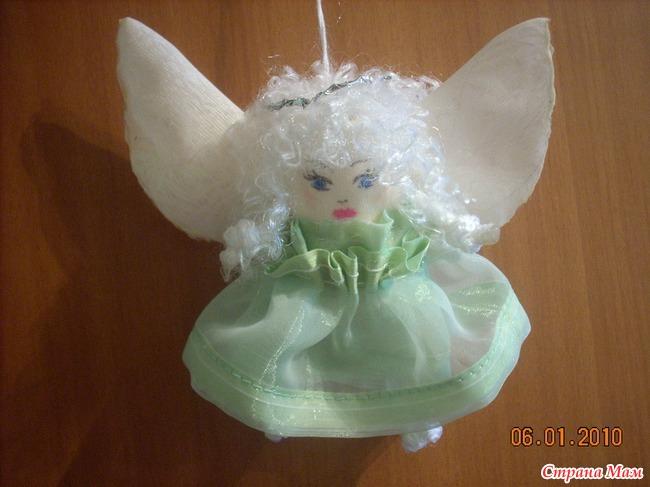 Рождественская игрушка ангелочек своими руками на конкурс