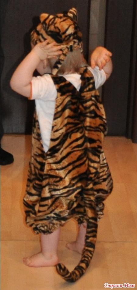 Как сделать костюма тигра 142