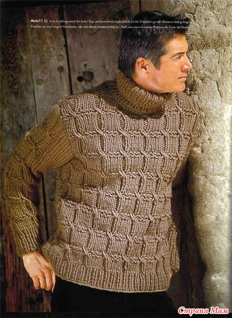 Вязание из толстой пряжи для мужчин