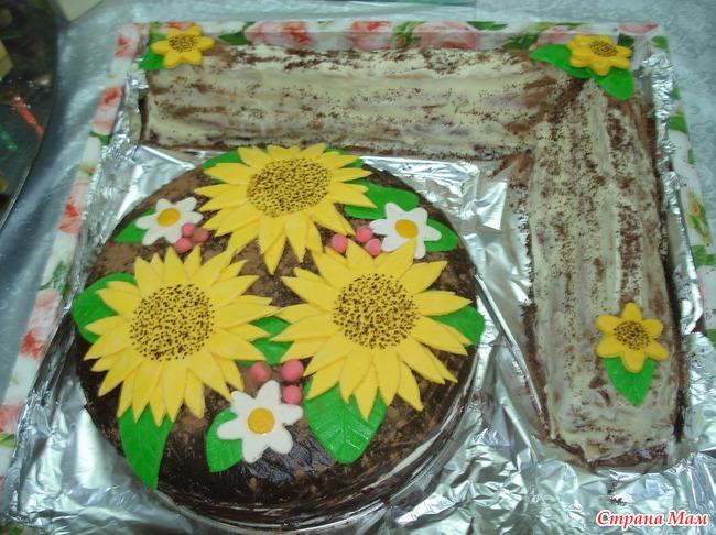 Торт соняшник фото