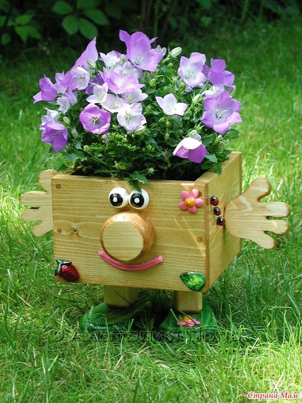 Самодельные кашпо под цветы - Декоративные кашпо своими руками для сада: лучшие варианты