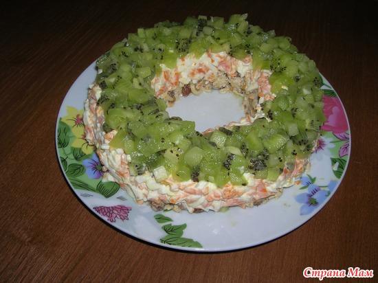 Малахитовый салат рецепт с