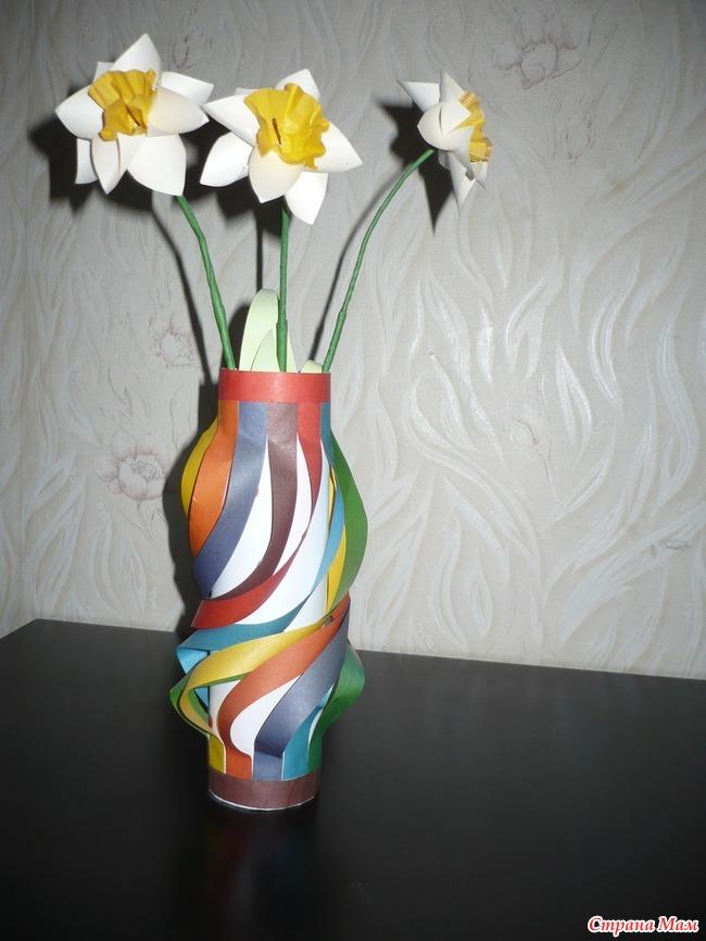 Вазочка с цветочками - Поделки - Страна Мам