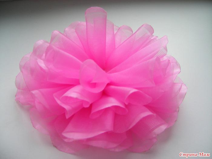 Легкий цветок из ленты 57