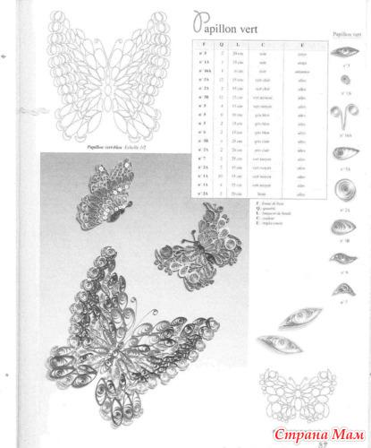"Схема бабочки ""квиллинг"" 2"