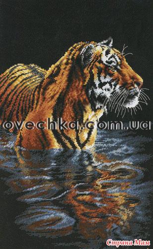 Девочки, увидела вот такого тигра чудесного и захотелось вышить.  Может кто-то может дать схемку или ссылку.
