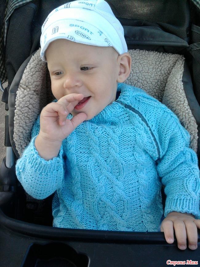 Вязание от горла детям