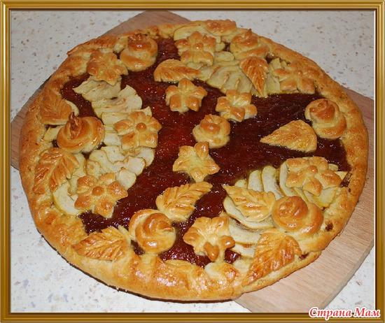 Пирог с вареньем на дрожжевом тесте фото рецепт пошаговый