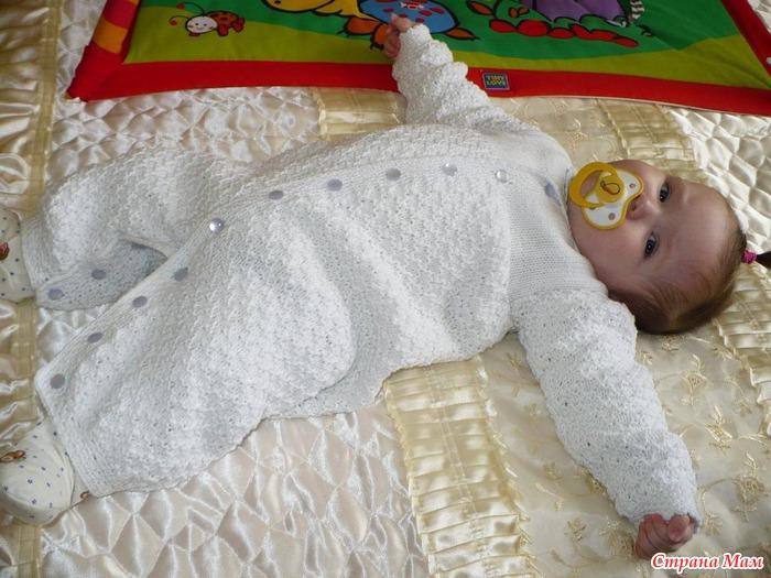 вязание крючком для новорожденных.