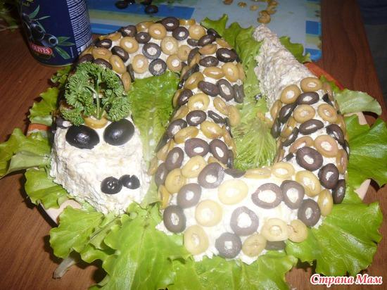 Салат змея с фотографиями