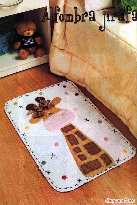 Как сшить коврик для ванной своими руками