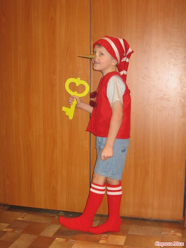Костюм буратино для мальчика своими руками фото