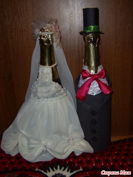 Поделки на свадьбу на шампанское