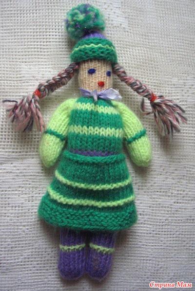 Как сделать куклу из вязаных ниток