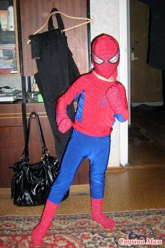 Выкройка костюма человек паук 90