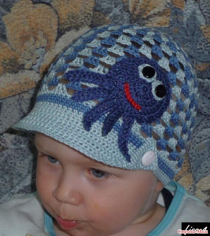 Вязание летних шапок крючком для мальчиков