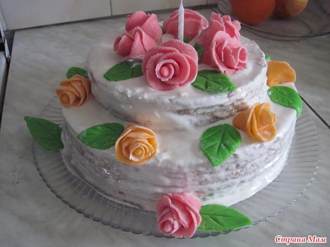Торт из мастики маме на день рождения рецепт пошагово с