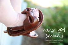Кожаные сандалики своими руками. Красота!
