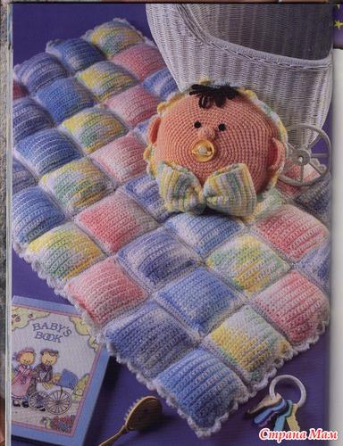 Детские одеяло своими руками связать