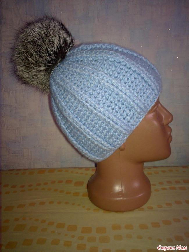 Вязание шапок из тонкой пряжи
