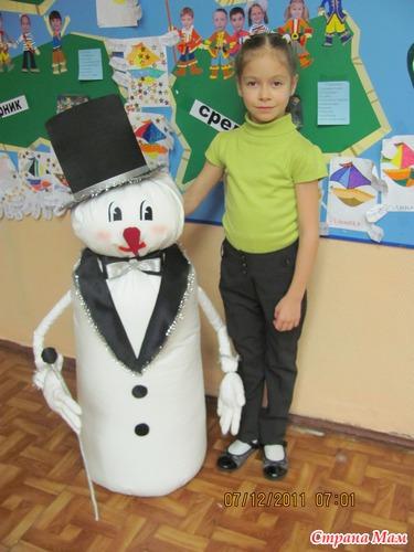 Как сделать из бумаги объемного снеговика видео