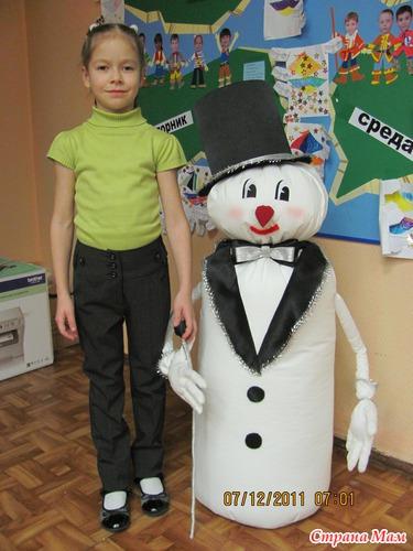 Купить костюм снеговика для мальчика своими руками