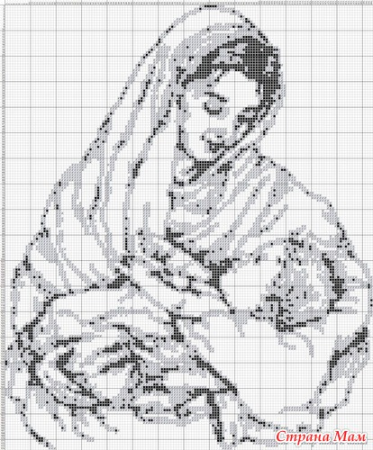 Схемы вышивок мать с ребенком