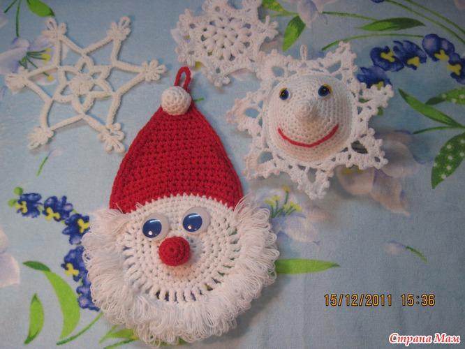 Дед мороз и снежинки