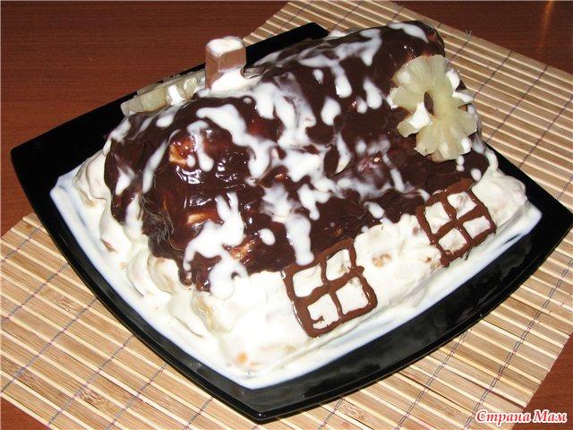 Фото рецепти торт вишневая изба