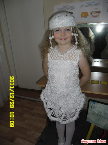 Детские вязанные новогодние костюмы
