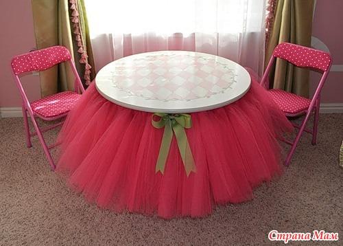 Как сделать стол юбку
