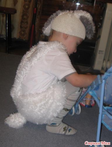 Вязаный костюм зайчика для мальчика своими руками