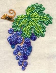 Вязания крючком виноград и их схемы