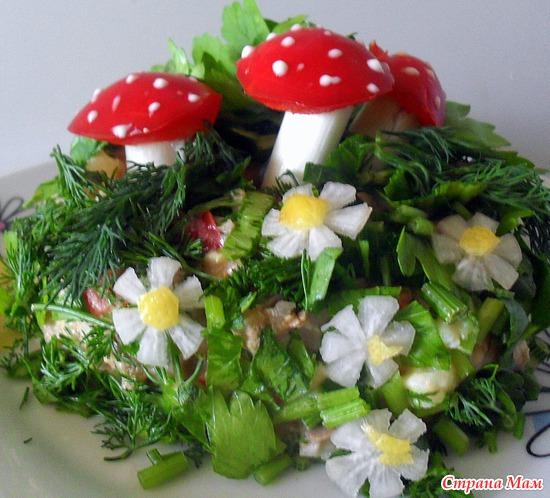 Салат сказочная поляна фото