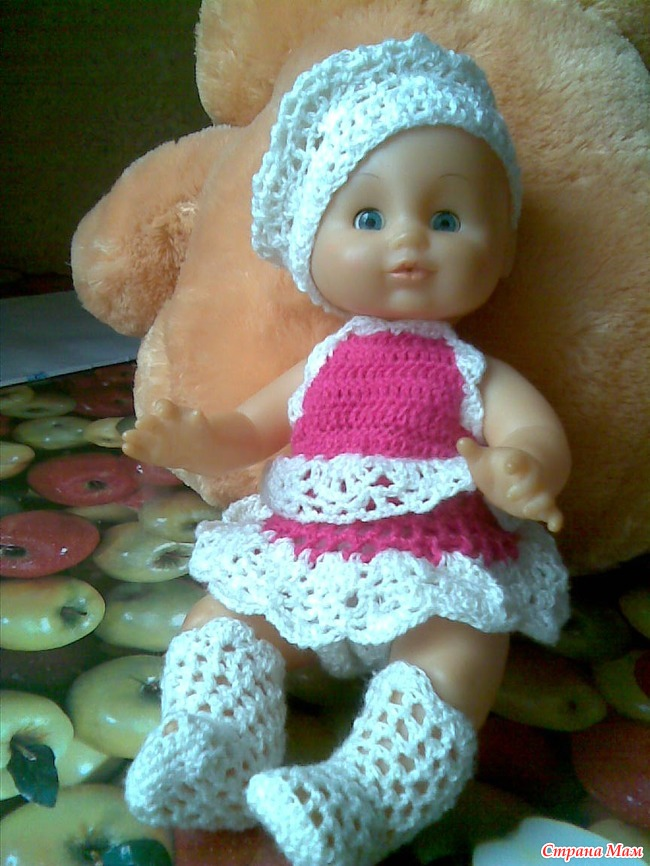 ДАЙДЖЕСТ. Вяжем куклам Вязаная мода для пупсов Pinterest