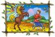 Конек-горбунок - иллюстрация к сказке. .  Компьютерная графика. .  Художник Наталья Логванова.